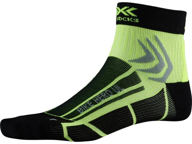 X-Socks Bike Hero UL Calcetines, opal black/phyton yellow